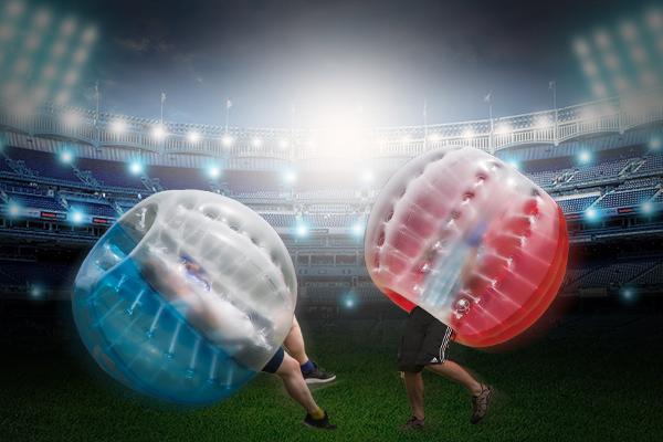 Bubble Soccer beim Junggesellenbschied